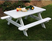 Yellow Pine Classic Kids Picnic Table