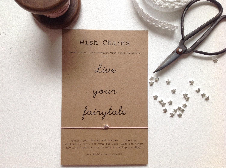 Sterling Silver Wish Bracelet Wedding Favour Wedding By WishCharms