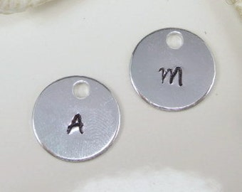 Add On Initial Charm Personalized hand stamped initial charm Hand Stamped Jewelry
