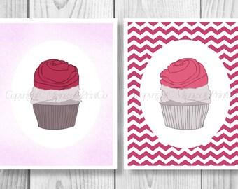 Cupcake Digital Download, Cupcake Printable, Cupcake Digital, Cupcake Print, Cupcake Art, Cupcake Decor, Cupcake Download Print 0081