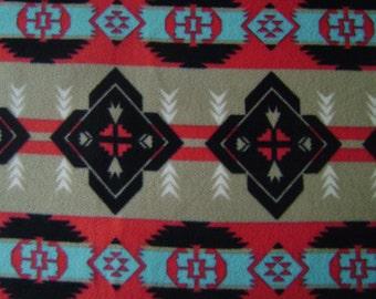 1.5 yards of Native American Print Anti-Pill Fleece Fabric