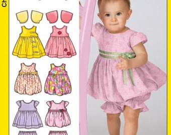 OUT of PRINT Simplicity Pattern 3854 Babies' Dress, Pantaloons