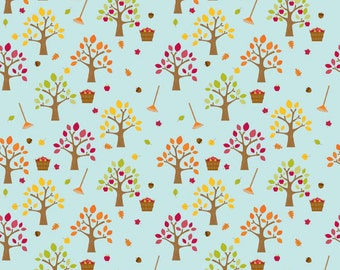 UK Shop: Happy Harvest Trees Riley Blake Cotton Fabric