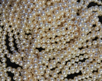 1550 Vintage Pearl White or Ivory. 10mm, White Pearls, Ivory Pearls, Jewellery making, Wedding Pearls, Glossy Pearls.