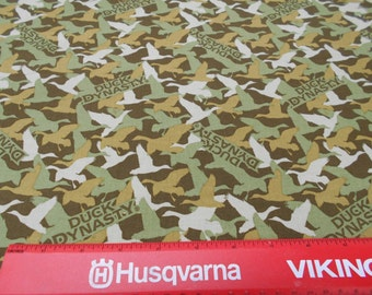 DUCK DYNASTY duck camo fabric by the yard 100% cotton free shipping