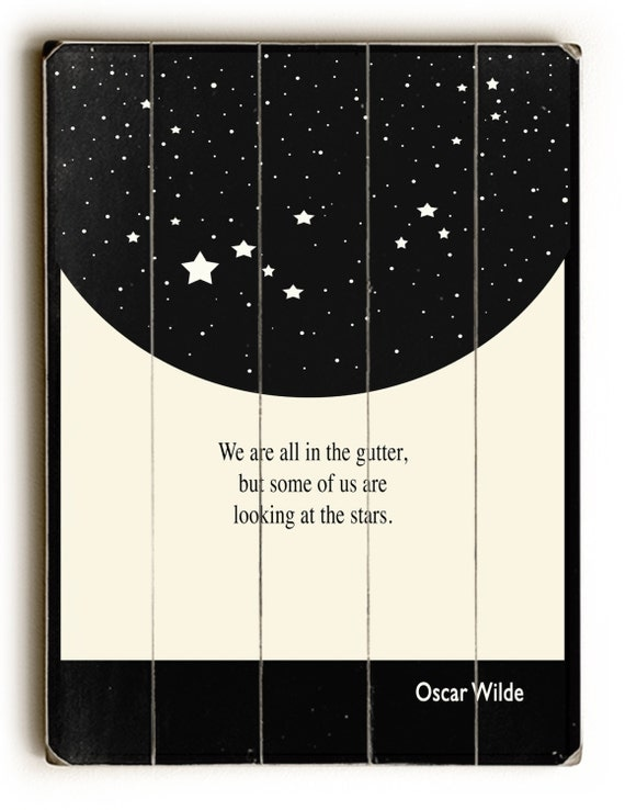 Wooden sign oscar wilde wall decor inspirational sign for Art and decoration oscar wilde