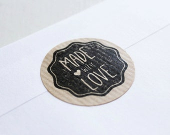 Made with love stamp