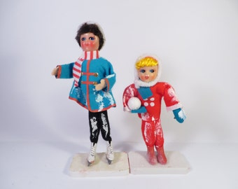 Ice Skater Doll and Snowball Doll