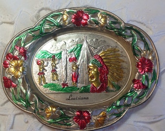 Vintage Louisiana  Ashtray Souvenir