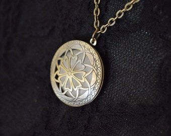 Solid Perfume Locket ~ Aromatherapy Necklace ~ Choice of fragrances