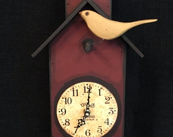 Birdhouse Clock-Bird House