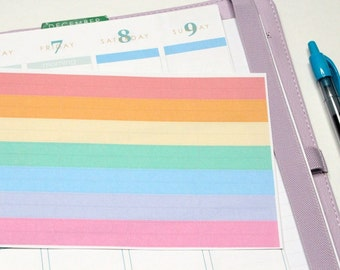 56 Pastel Solid Labels for the morning/day/night sections! Cut for Erin Condren but can be customized to fit Filofax! #SQ00408