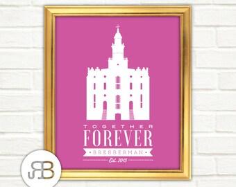 LDS Temple - St. George Utah - Personalized Printable Art - PDF / JPEG File