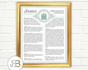 Family Proclamation to the World - with LDS Temple - Personalized / Customized Printable Design - PDF File