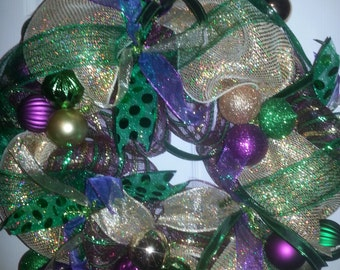 beautiful Mardi gras wreath