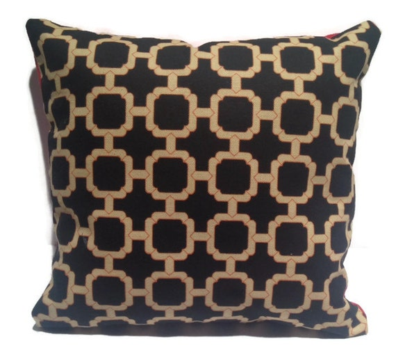 items similar to pillows throw pillow black and gold and. Black Bedroom Furniture Sets. Home Design Ideas