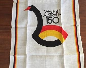 Vintage Western Australia 150 Linen Tea Towel