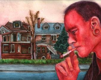 Young Man smoking