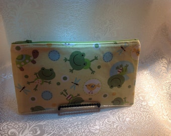 Fun Frog Zippered Pouch