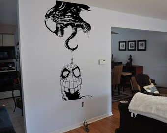 Spider-Man and Venom Inspired Wall Decal