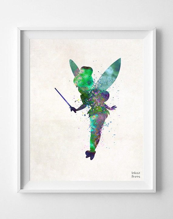 tinkerbell disney tinkerbell peter pan art by inkistprints. Black Bedroom Furniture Sets. Home Design Ideas