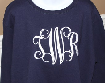 Monogrammed Sweatshirt Size Medium