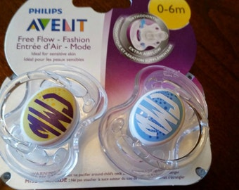 Personalized baby pacifiers