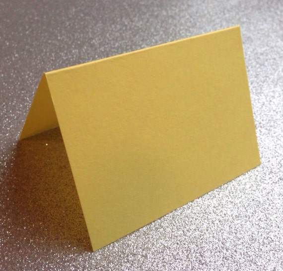 10 yellow blank folded place cards paper source escort