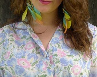 Soft Pastel Floral Blossom Delicate Pure Cotton 1960's Dress