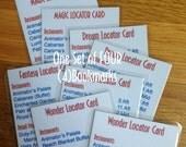 Disney Cruise Lines Ship Locator Laminated Bookmark - One Set of FOUR Bookmarks