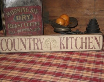 Country Kitchen with Willow Tree decorative wooden sign for the home