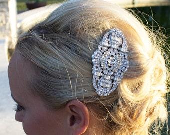 Art Deco Bridal Comb, Rhinestone Comb, Bridal Comb Crystal, Wedding Crystal Hair Comb, Hair Comb, Wedding Accessory, 204833851