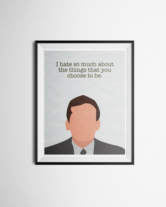 quote poster of michael the office michael by louisianaprints