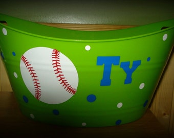 Baseball Easter Basket, Personalized Easter Basket, Personalized Basket, Easter Basket, Baseball Basket