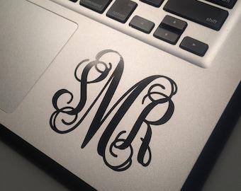 Laptop Decal, Customized, Monogram, Personalized, Monogram Decal, iPad Decal, Stocking Stuffer