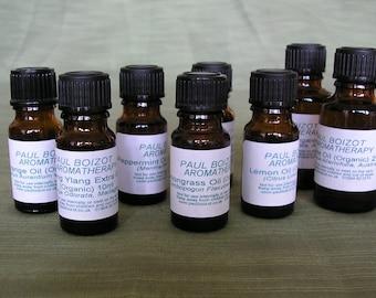 Organic Essential Oils - Eucalyptus, Lemon, Lemongrass, Orange