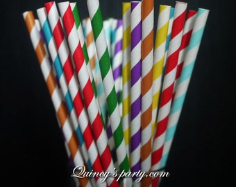 Multipack Paper Straws - Rainbow mixed