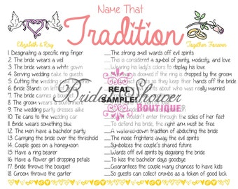 CUSTOMIZABLE/ Custom Bridal Shower Game  -Fun, Detailed, & Cute!