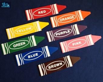 Set of 8 Crayon magnets