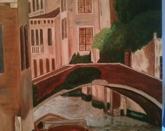 Beautiful painting with oils, ideal for any kind of decoration. Don't the canals of Venice like whom?.Beautiful painting