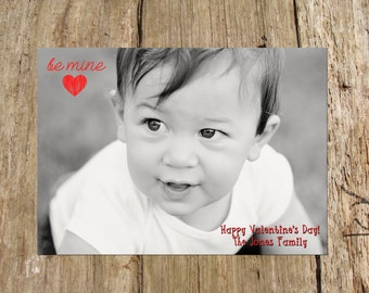 Customized Valentine's Day Photo Card