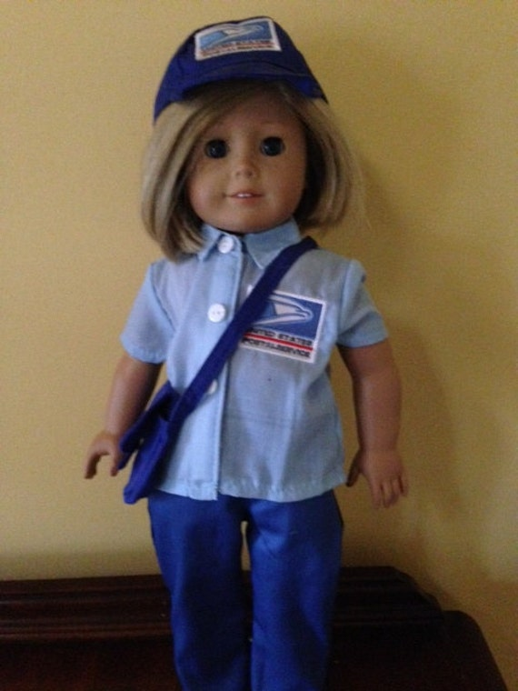 Fits 18 American Girl or Boy Doll clothes Uniform Postal