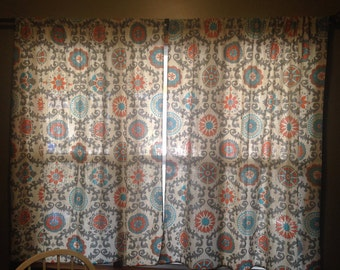 Custom Curtain Panels (2) made to order any size or pattern