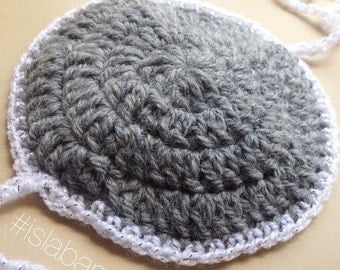 Baby Boy Yarmulke/Kippah/Kippa Crochet for Bris with Ties