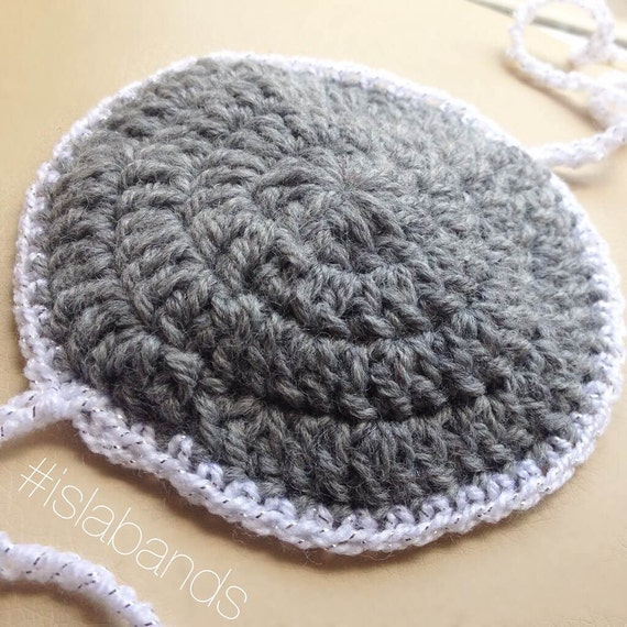 Baby Boy Yarmulke/Kippah/Kippa Crochet for Bris with by IslaBands
