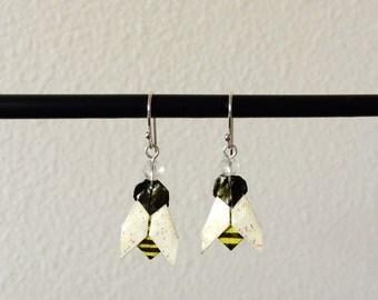 Origami Bee Earrings