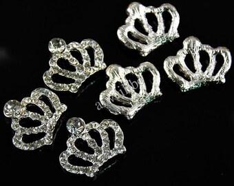 10 pcs Rhinestone Crown Button, Decoration Buttons, Embellishments, DIY Supplies