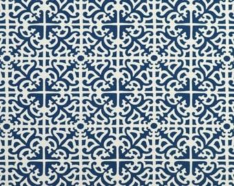Waverly Parterre Sun N Shade Indigo Fabric - By the Yard