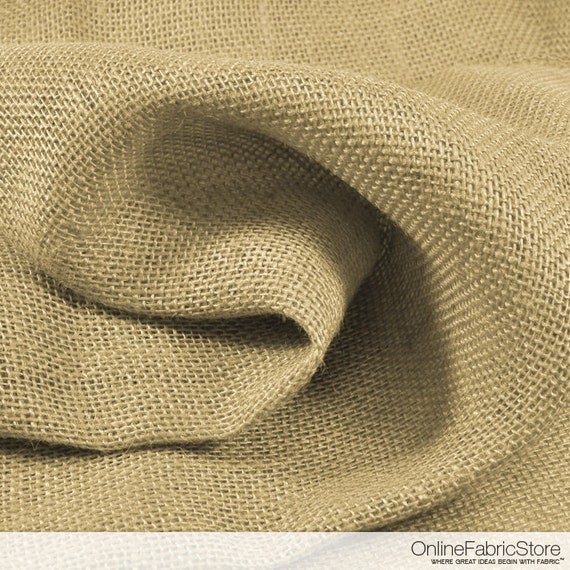 Items similar to natural color burlap fabric by the yard for Colored burlap fabric