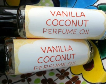 Vanilla Coconut Perfume Oil ~ Roll On Oil